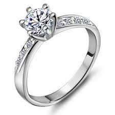 silver pretty rings images Stunning cubic zirconia ring sterling silver engagement rings jpg