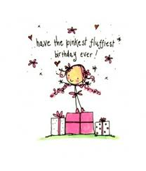 buy pinkest fluffiest birthday card by juicy lucy from www