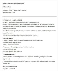 Financial Resume Example by Finance Resumes Download 24 Free Word Pdf Documents Download