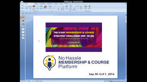 membership u0026 course strategy challenge summary no hassle
