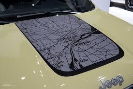 jeep decal 2015 naias jeep renegade hood map decal motoring rumpus