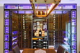 custom new jersey tasting room and glass wine cellar building