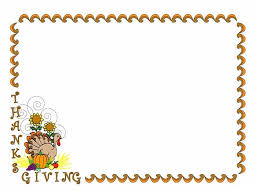 thanksgiving border clip in black and white 101 clip