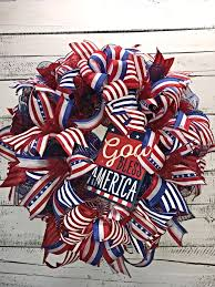 patriotic wreath 4th of july door wreath summer wreath fourth