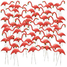 27 inch pink flamingo 50 pack lawn ornaments yard garden
