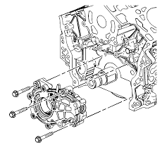 repair instructions on vehicle oil pump replacement 2008