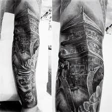 100 japanese sleeve designs black and grey 100