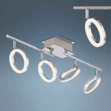 4 light led track lighting pro track halo 4 light chrome led track fixture 8g778 ls