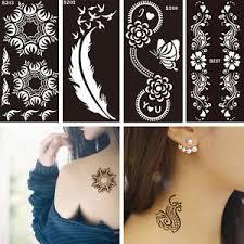 tattoo decal paper buy 1 sheet black flower style henna stencil body art temporary tattoo
