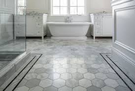 Tile Bathroom Floor Ideas by 30 Bathroom Hex Tile Ideas