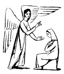 free religious archangel gabriel christmas clipart for grade