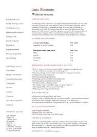waiter resume sample restaurant waiter resume sample this is a sample resume for a