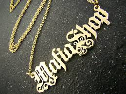 make your own name necklace font style exle mafiashop personal nameplate