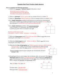 multiple alleles worksheet