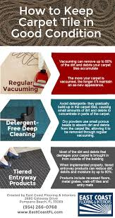 Carpet Tile Installation How To Keep Carpet Tile In Good Condition Infographic