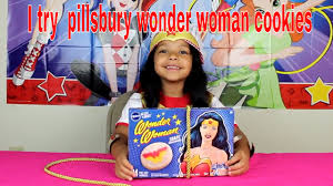 pillsbury halloween sugar cookies we try out the new pillsbury wonder woman sugar cookies youtube