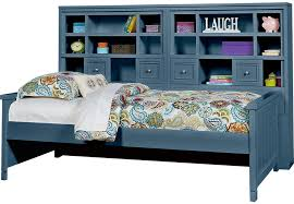 Daybed With Bookcase Cottage Colors Blue 5 Pc Full Bookcase Daybed Daybeds Colors