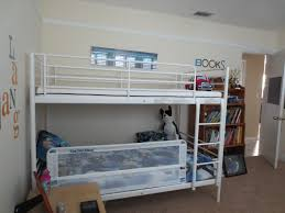 Metal Loft Bed With Desk Bunk Bed Image Of Metal Loft Bed Twin - Double bed bunk bed ikea