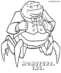 coloring page monsters inc monsters inc coloring pages to download and print ribsvigyapan com