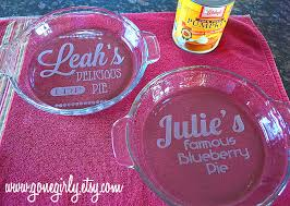 personalized pie plate 25 personalized pie plate custom engraved etched printed