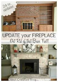 innovative stone fireplace makeover and red brick fireplace