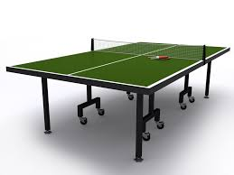 sporting goods ping pong table table tennis or ping pong table 3d sports cgtrader