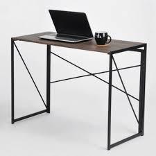 pieds bureau table bureau pliable pieds métal noyer