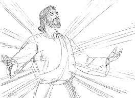 jesus transfiguration coloring page cecilymae