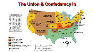 Confederate States Map by North Vs South Advantages Ppt Download