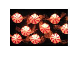 kurt adler 10 light peppermint light set