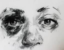 charcoal sketch of a friend u0027s eye after a seizure drawings