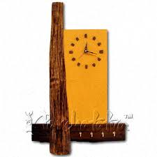 buy wooden wall clock and key holder with painting in
