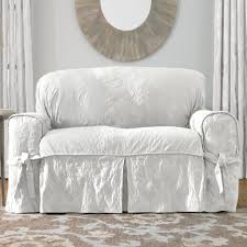 Sure Fit Cotton Duck T Cushion Sofa Slipcover by Living Room T Cushion Slipcovers For Sofas Couch Sofa Sure Fit
