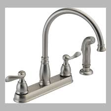 satin nickel kitchen faucets at menards centerset two handle side