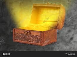wooden treasure chest magical wispy image u0026 photo bigstock