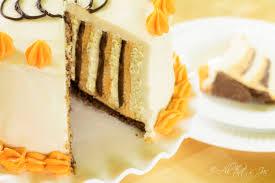 pumpkin orange chocolate wrapped cake