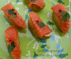 comment cuisiner les rattes du touquet sushi de gravlax et rattes du touquet cooking