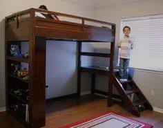Wooden Loft Bed Plans by Free Woodworking Plans To Build A Low Loft Bunk Bed Www