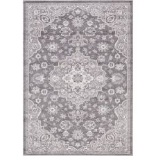 Concord Global Area Rugs Concord Global Trading Lara Center Medallion Gray 7 Ft 10 In X