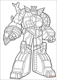 power ranger megazord coloring free printable coloring pages