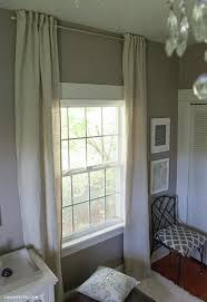 How To Sew A Curtain Valance Diy Back Tab Curtains