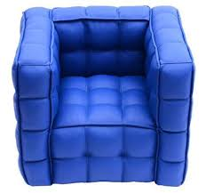 Childrens Leather Chair And Footstool Childrens Leather Sofa Ebay