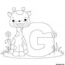 printable animal alphabet worksheets letter giraffe