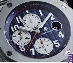 audemars piguet royal oak offshore chronograph navy model steel
