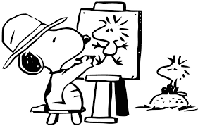 Coloriage Snoopy Noel Dessin De Snoopy Az Coloriage  Artemiaorg
