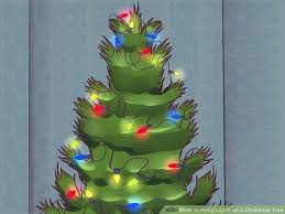 Christmas Decorations Wiki 3 Ways To Hang Lights On A Christmas Tree Wikihow