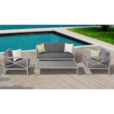 Aluminum Frame Wicker Patio Furniture - ove decors pasadena 3 piece aluminum frame patio sectional set