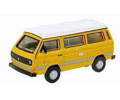 volkswagen yellow vw t3 camper with flat roof yellow 1 64 edition 1 64 box van