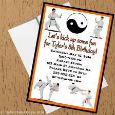 art birthday invitations karate martial arts birthday party invitations orange crafty