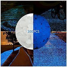 glow in the dark rocks amazon com verkb 100pcs glow in the dark stones garden pebbles